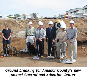 groundbreaking for new Animal Shelter
