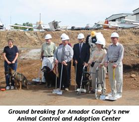 groundbreaking for new Animal Shelter